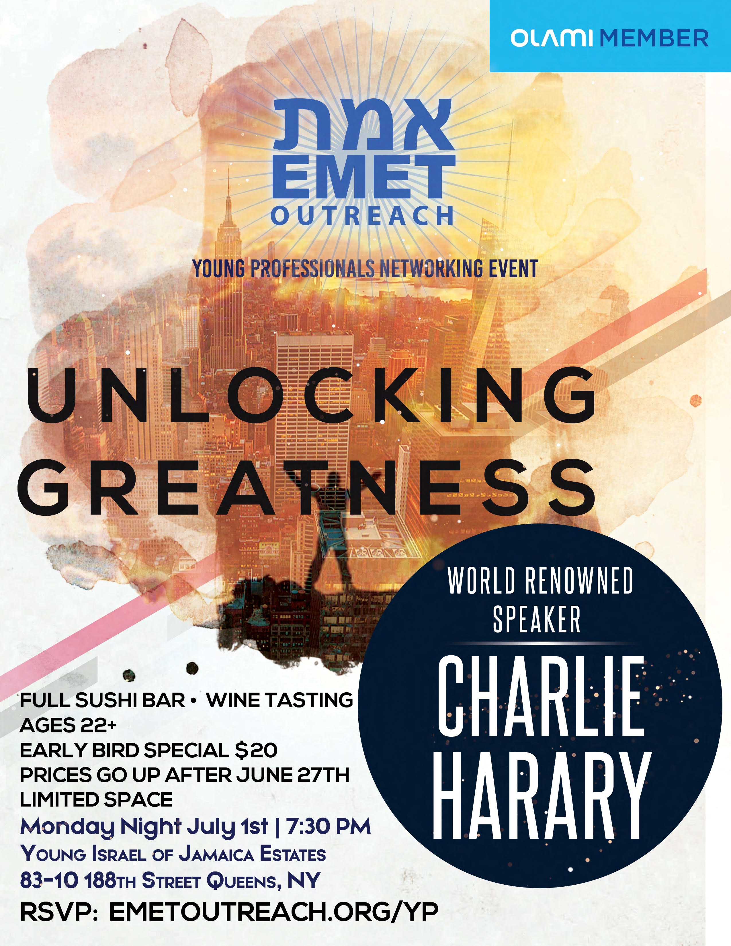 Charlie Harary EMET YP Event!