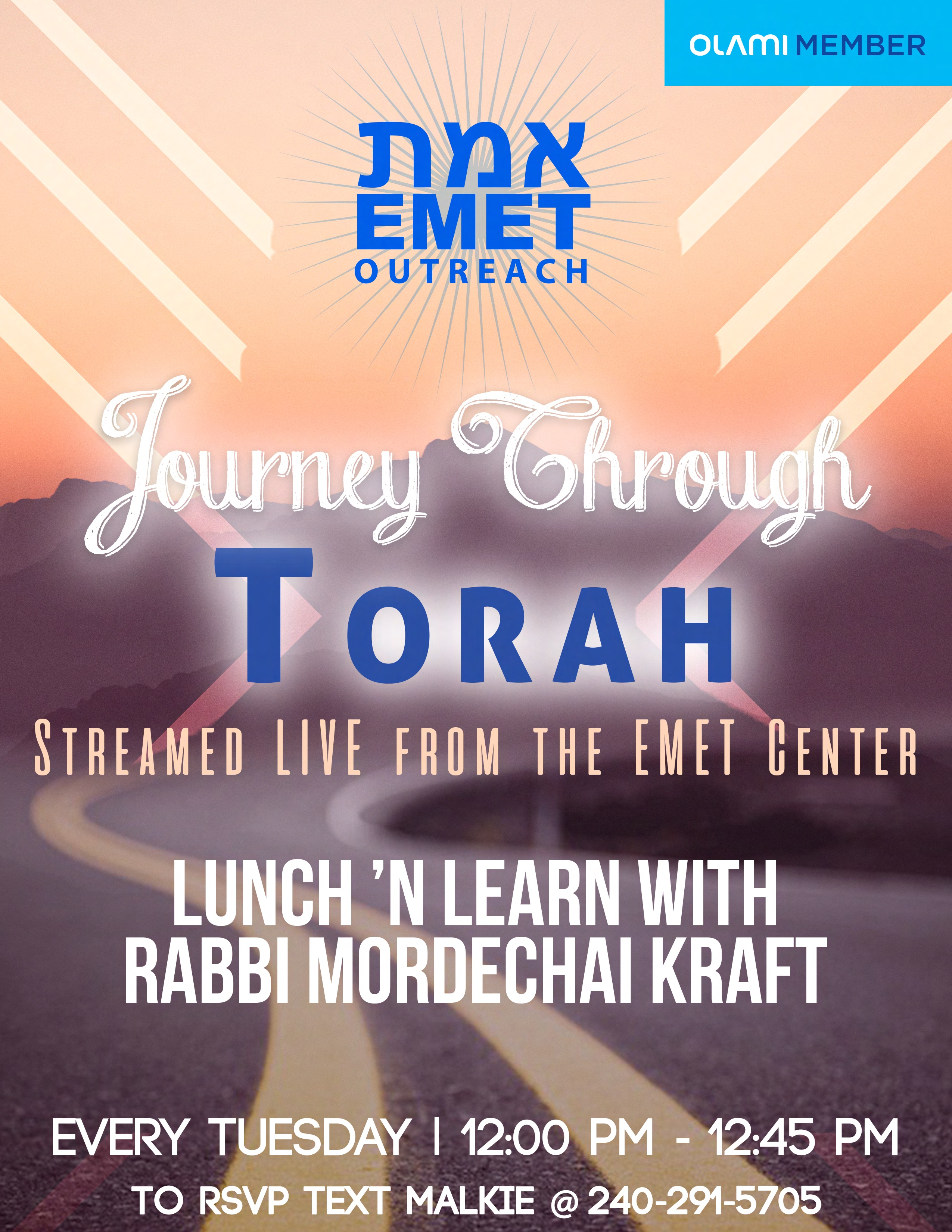 Rabbi Kraft Lunch & Learn
