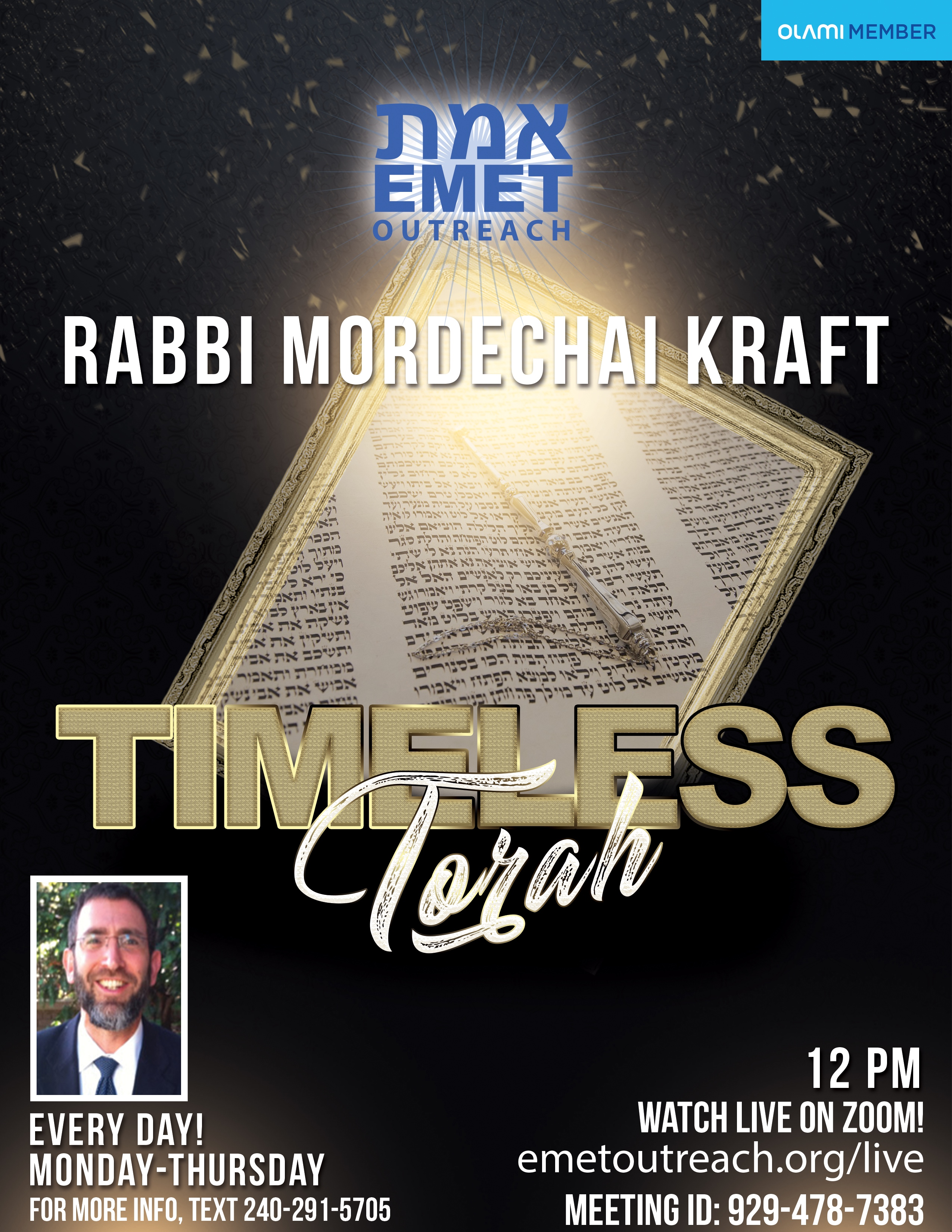 Timeless Torah - Rabbi Mordechai Kraft 2020v2