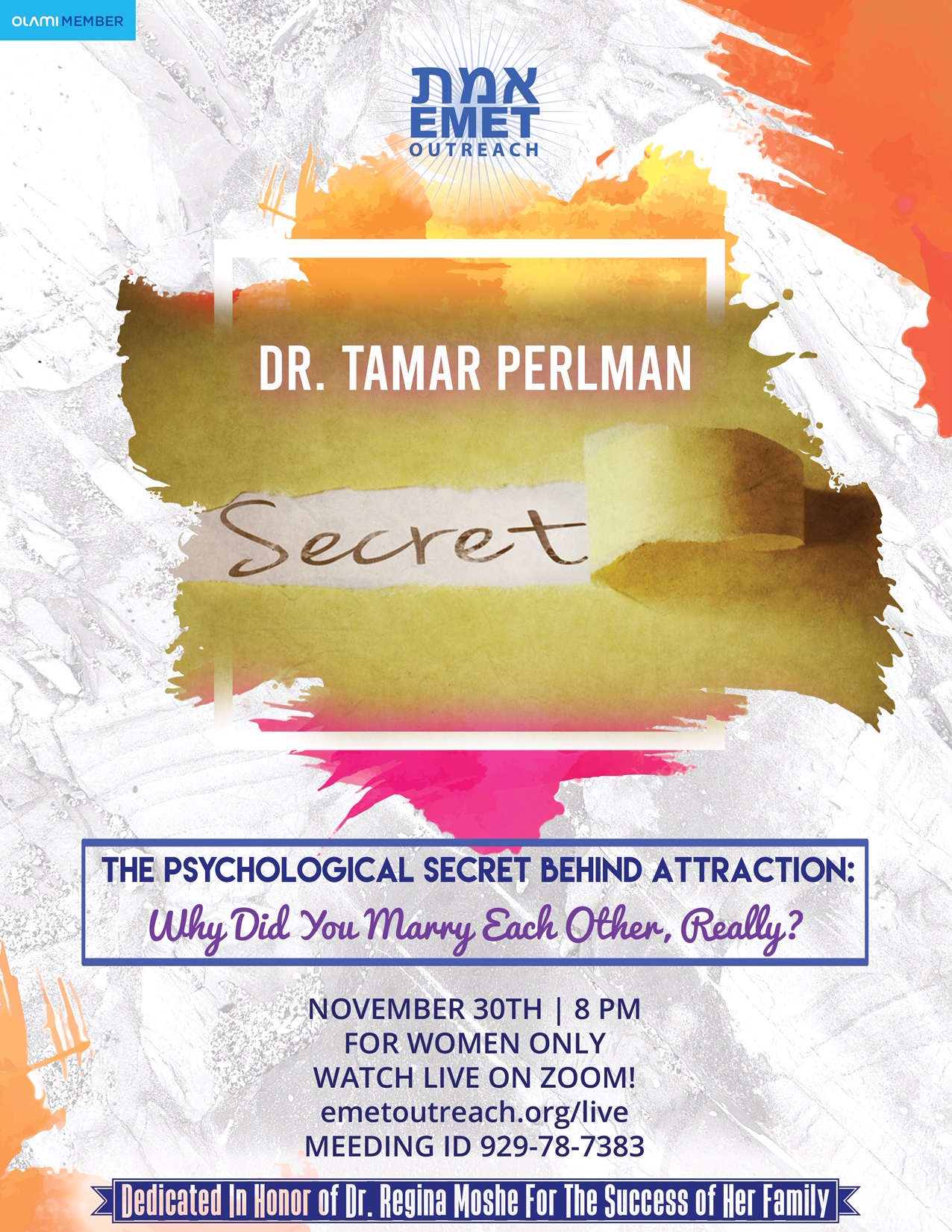 Dr. Perlman The Secret of Attraction 2020