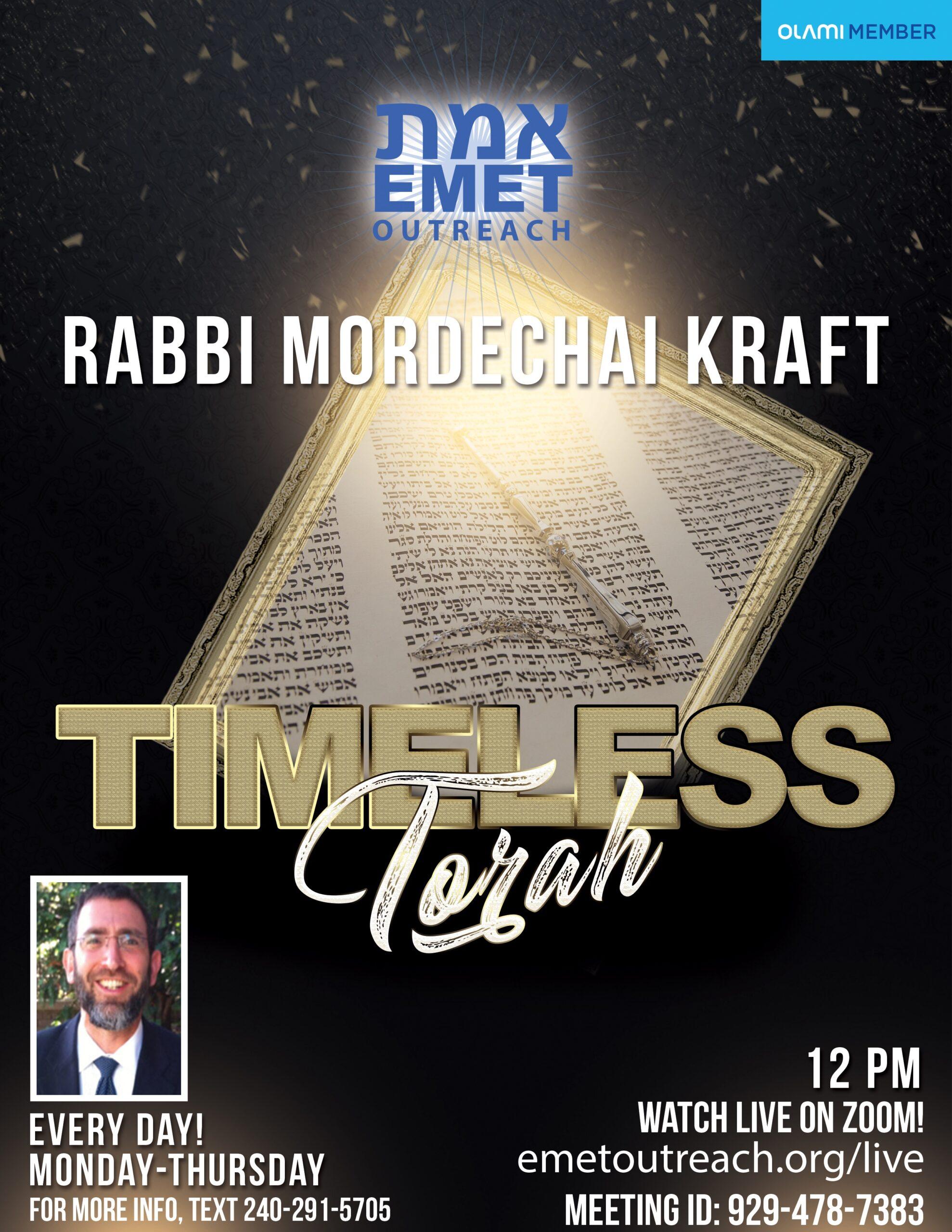 Timeless-Torah-Rabbi-Mordechai-Kraft-2020v2
