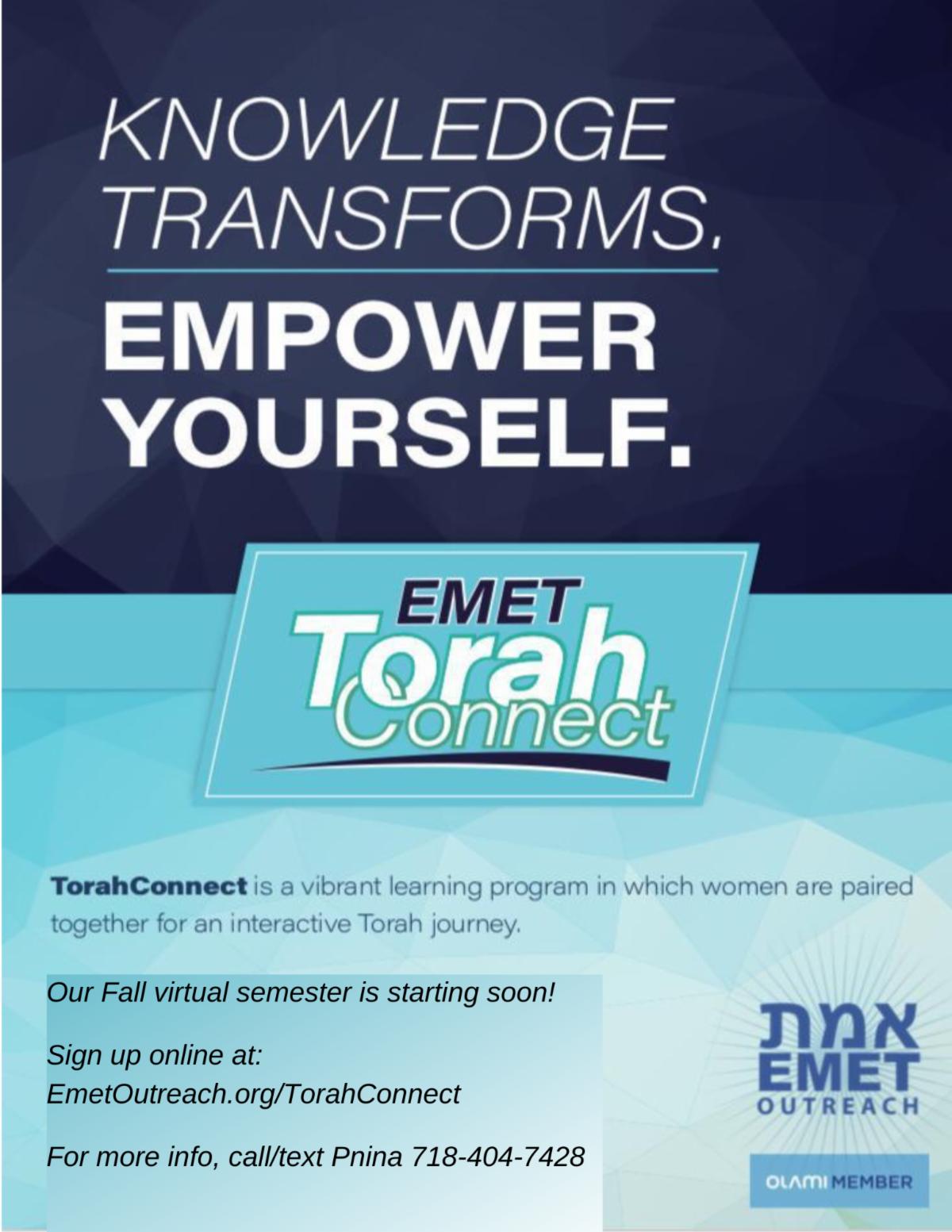 TorahConnect flyer women updated