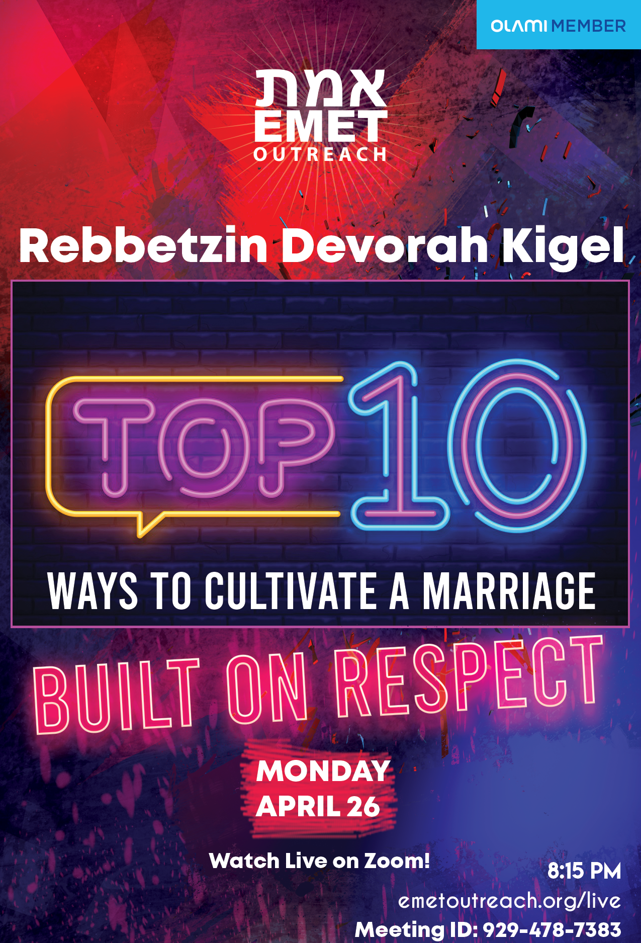Reb Kigel Top 10 Ways To Cultivate Marrage Built on Respect 2021